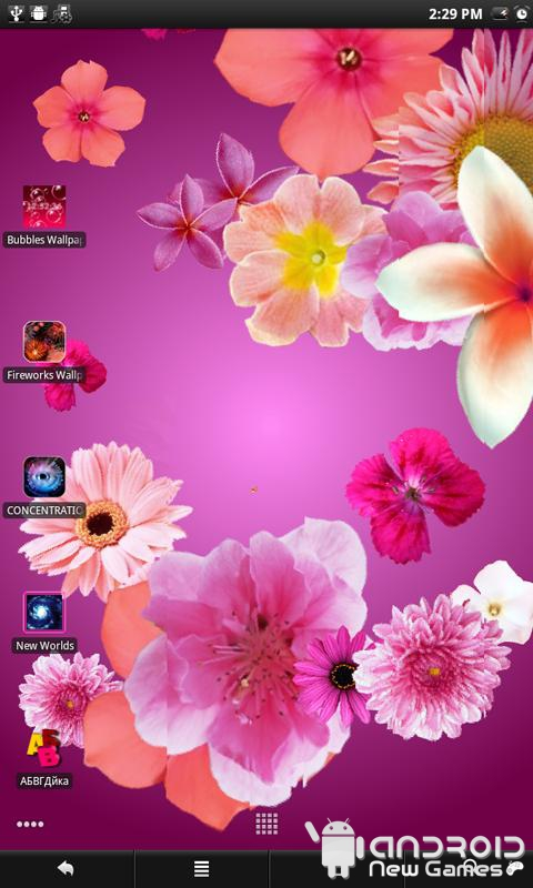 3D Flowers Live Wallpaper androidnewgames 480x800