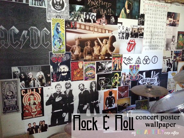 Rock n Roll Concert Poster Wallpaper   My Craftily Ever After 600x450