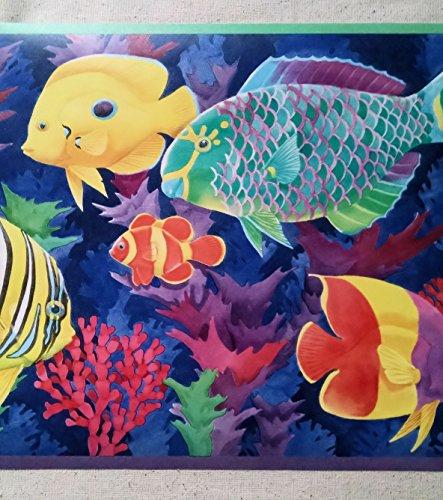 Tropical Fish Seashore Wallpaper Border   PC196B 443x500