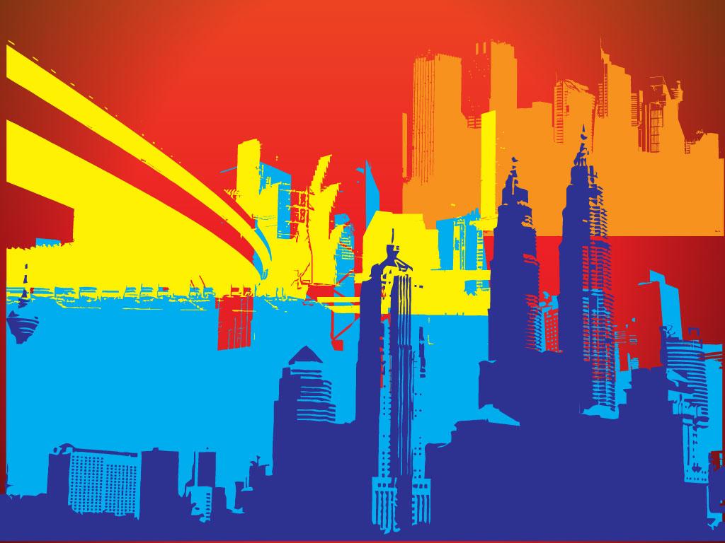 Cityscape Backgrounds 1024x768