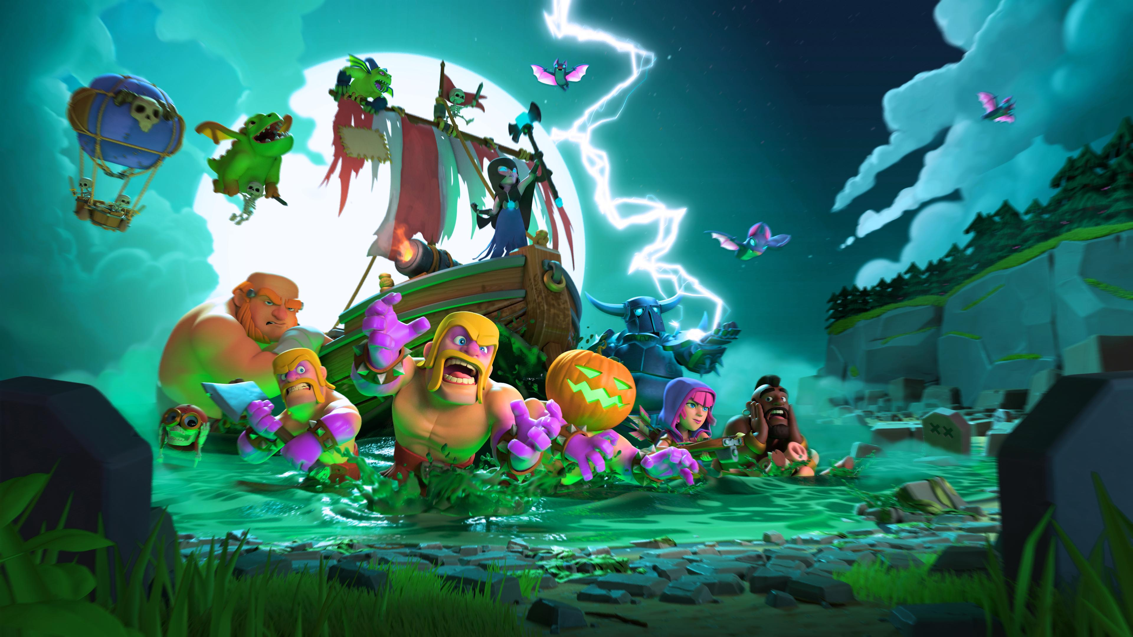 Clash Of Clans Halloween Wallpaper Background 62283 3840x2160px 3840x2160