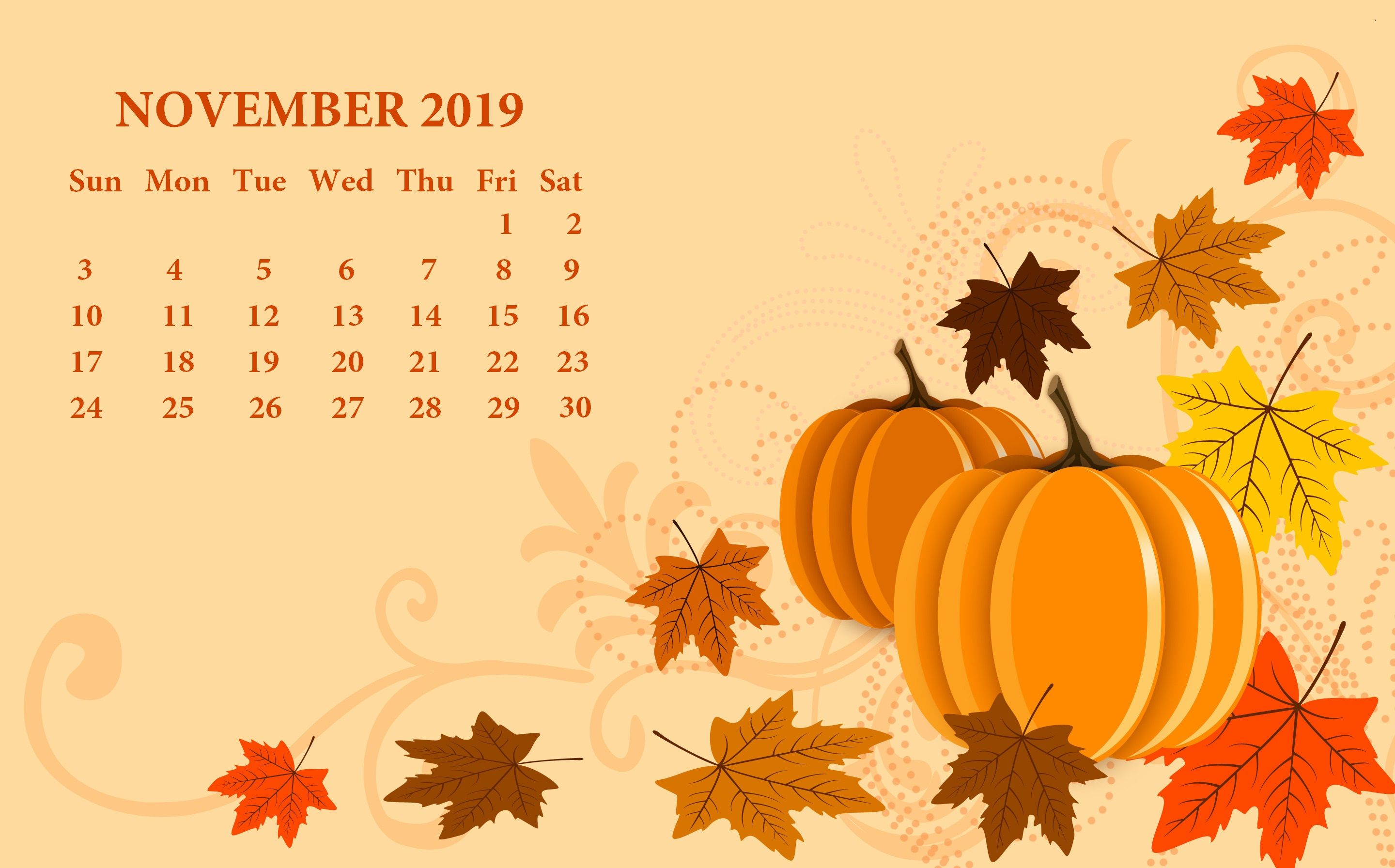 November 2019 Calendar Wallpapers   Top November 2019 2880x1792