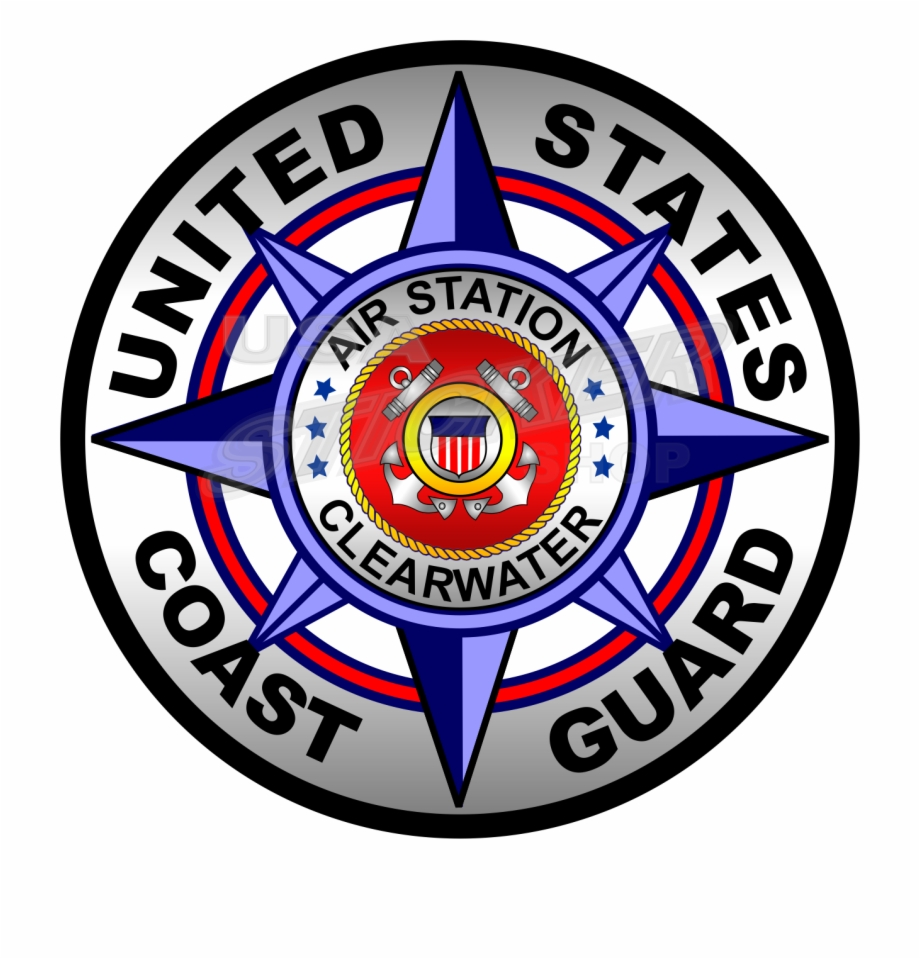Coast Guard Air Station Clearwater Badge Sticker Round   United 920x959