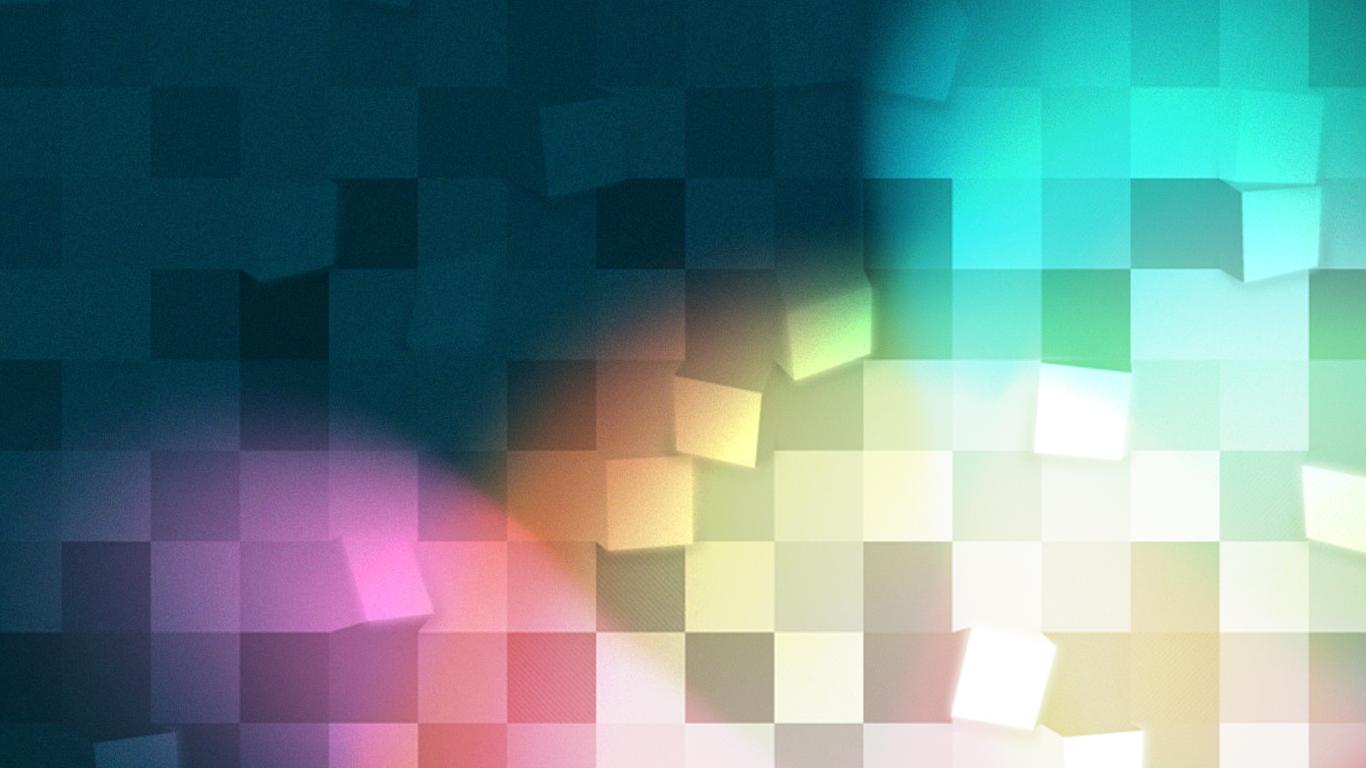 1366x768 Colored Pixel Art desktop PC and Mac wallpaper 1366x768