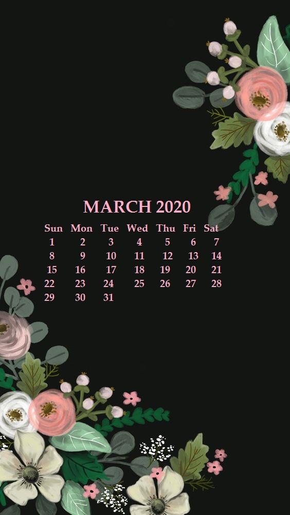 30 March 2020 Calendars You Can Download and Print 564x1003