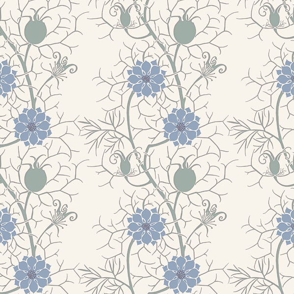 from top left   Woodland Carpet Apothecarys Garden Love In A Mist 598x597