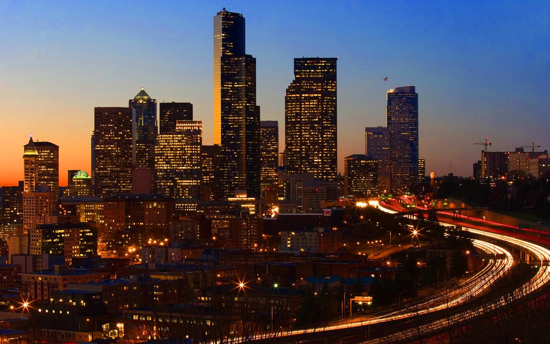 City at Night desktop wallpaper 1920x1200