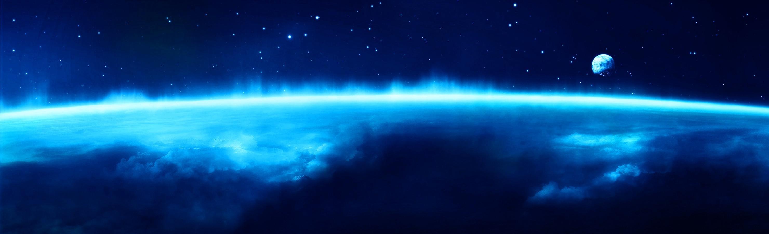 DEEP BLUE SPACE WALLPAPER   105271   HD Wallpapers   [desktopinHQ 2960x900