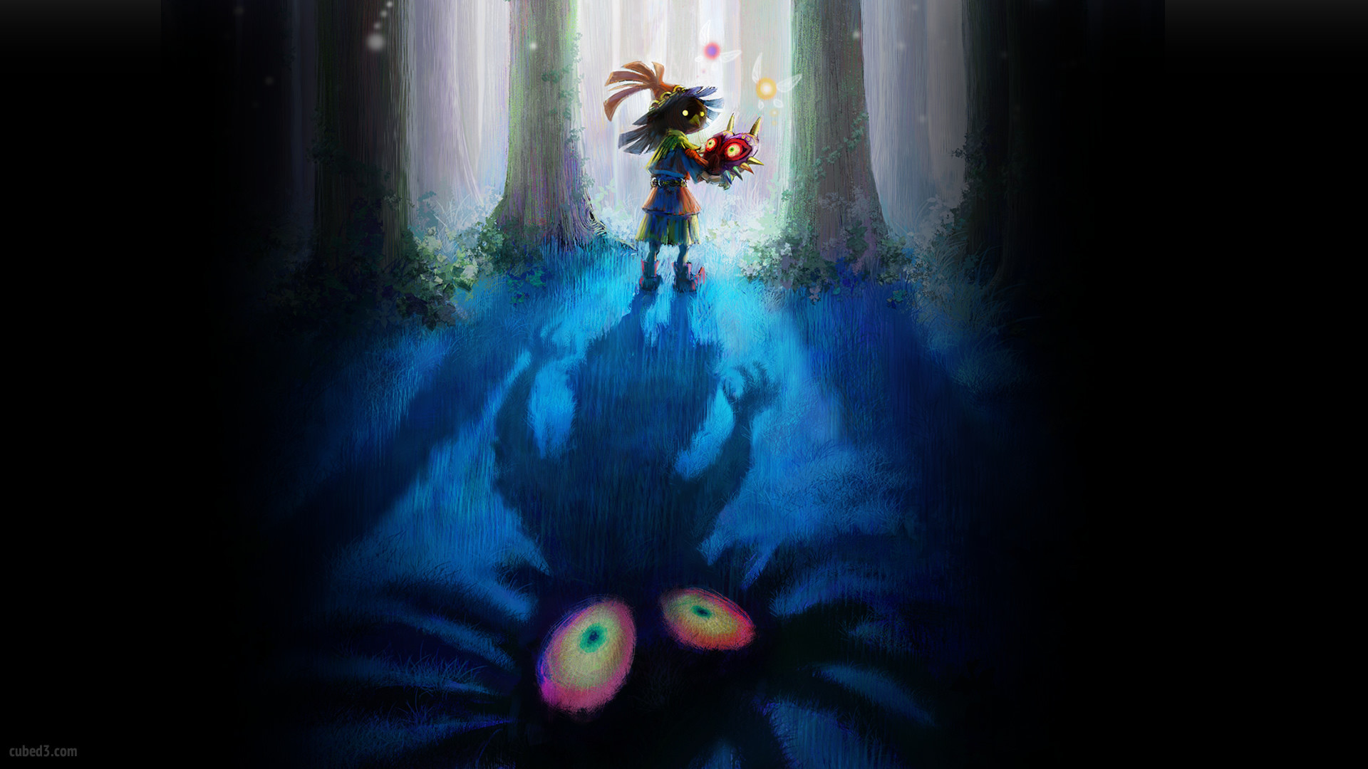 Majora S Mask Desktop Background: Zelda Majora's Mask 3DS Wallpaper