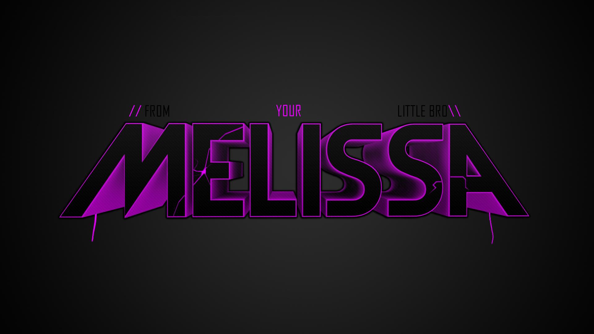 Name melissa wallpaper wallpapersafari - A and s name wallpaper ...