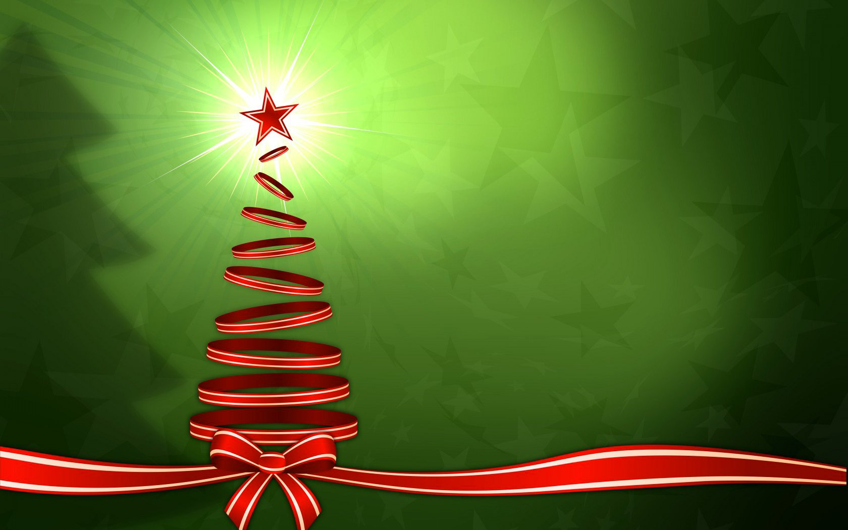 Free Download Christmas Red Tree Green Background Gallery