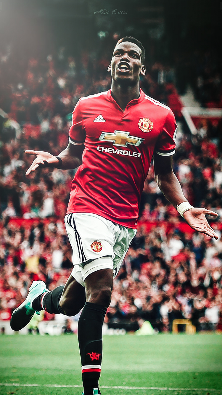 Paul Pogba Manchester United Lockscreen Wallpaper by adi 149 on 750x1334