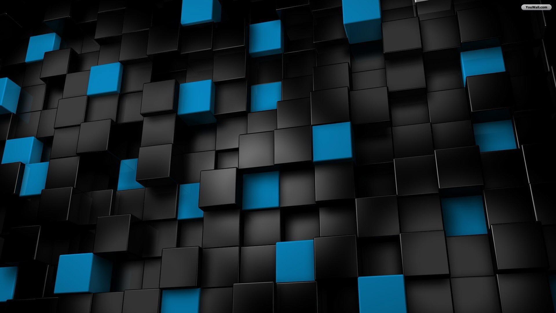blue cubes desktop wallpaper download black and blue cubes wallpaper 1920x1080