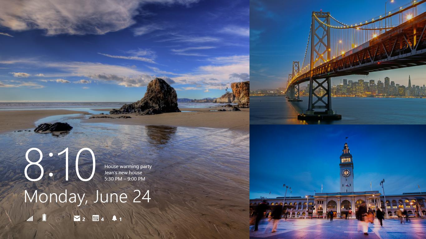 windows 8 il permet avec windows 8 1 d afficher des photos locales ou 1366x768