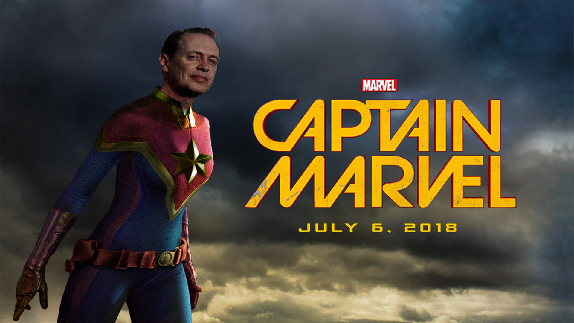 Steve Buscemi as Captain Marvel A collaboration with uredw04 1920x1080