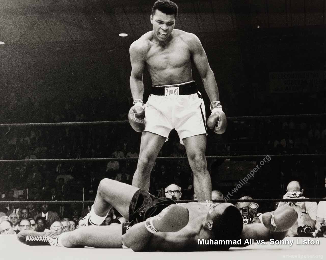 Muhammad Ali vs Sonny Liston Poster and Wallpaper Pictures 1280x1024
