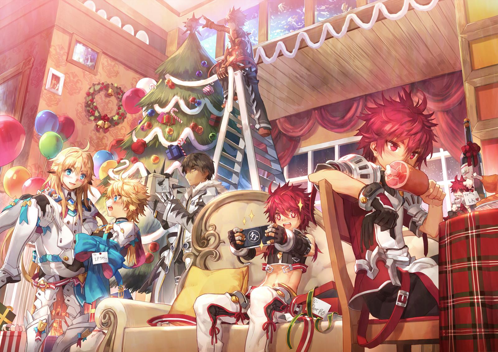 elsword christmas g wallpaper background 1600x1131