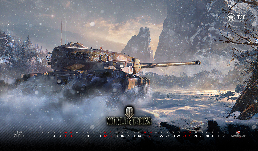 December 2015 Calendar Wallpaper Tanks World of Tanks media 1024x600