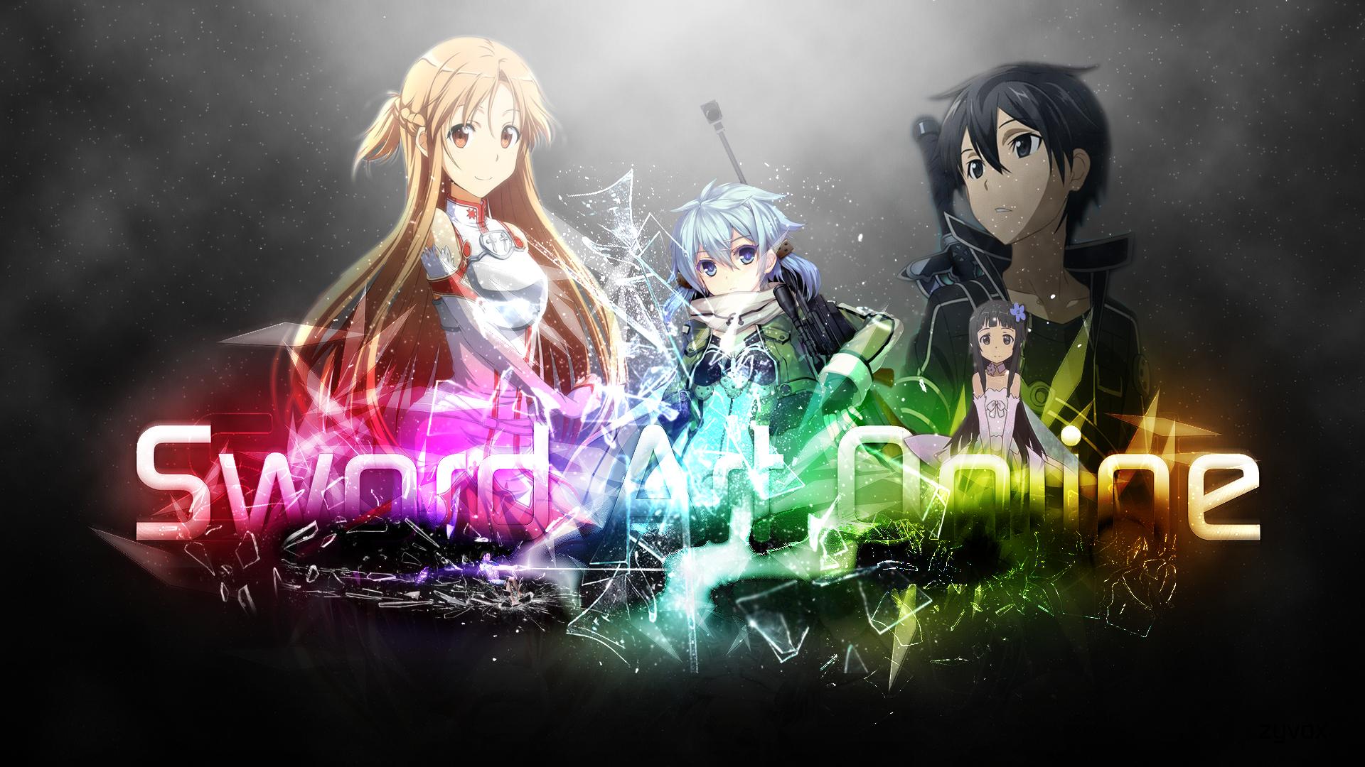 Sword Art Online Yui Anime Kirito Asuna Yuuki Sinon Fondo de Pantalla 1920x1080