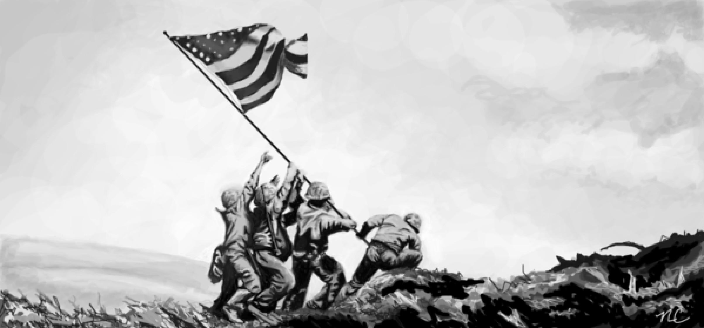 Iwo Jima Flag Raising Wallpaper