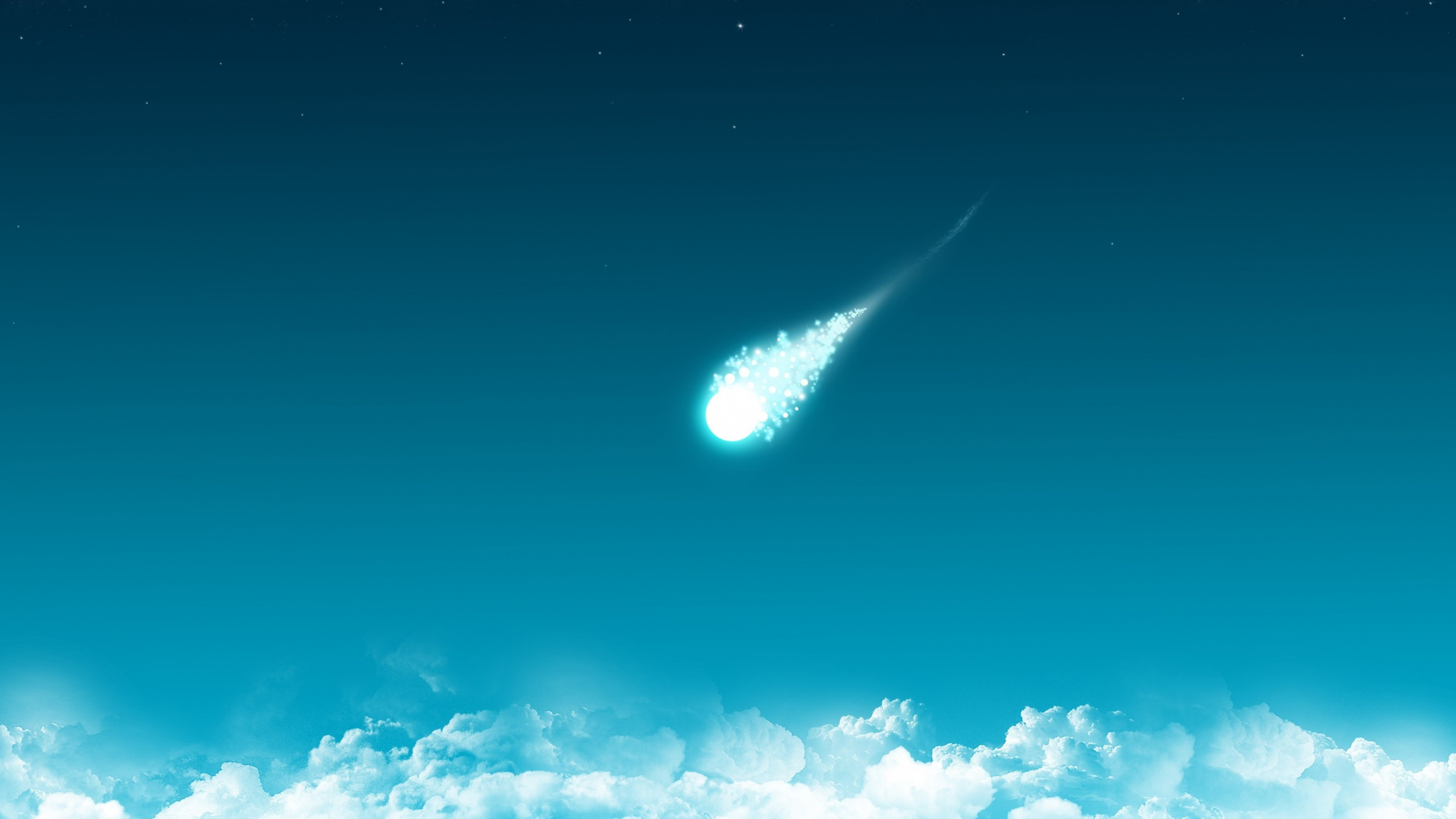 Download Wallpaper 3840x2160 clouds comet minimalism 4K Ultra HD HD 3840x2160