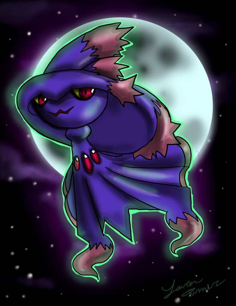 Mismagius ghost pokemon entry by animesock52 786x1017