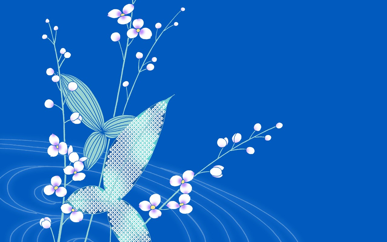 blue flower wallpaper   cynthia selahblue cynti19 Wallpaper 1280x800