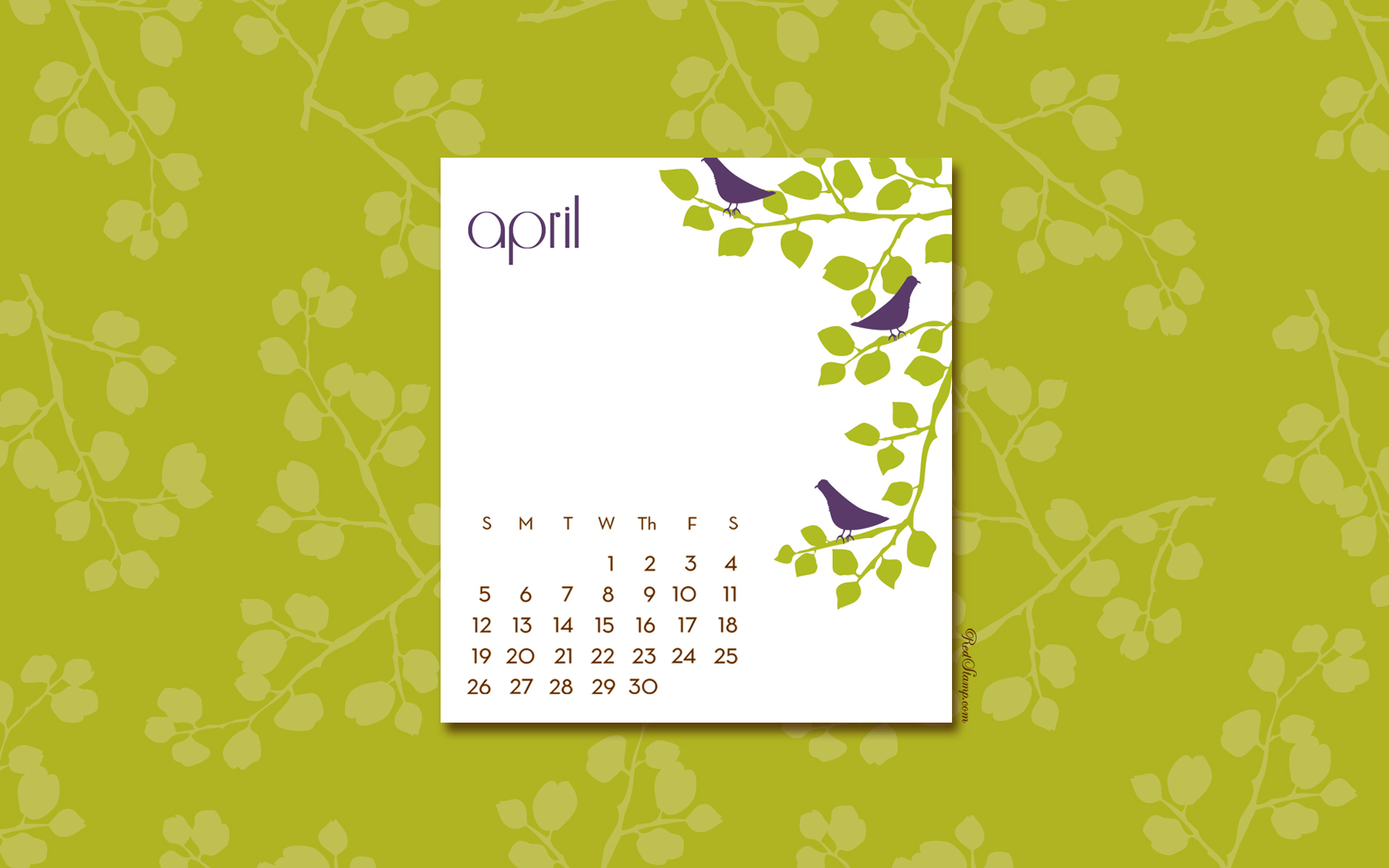 desktop computer calendar images april wallpaper redstamp 1920x1200