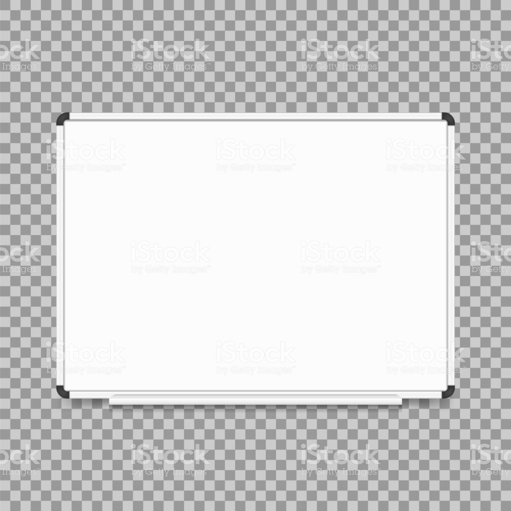 Empty Whiteboard Magnetic Board Isolated On Transparent Background 1024x1024