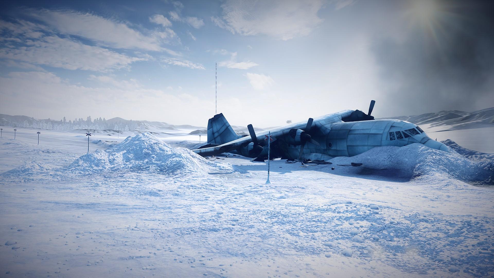 Airplane Plane Snow Crash Accident Winter dark horror plane wallpaper 1920x1080
