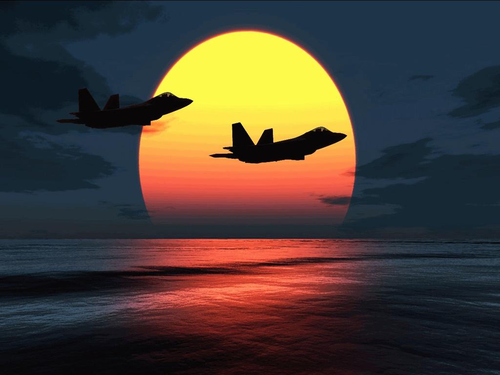 File Name F 22 Raptors Over Sunset HD Wallpaper 1024x768