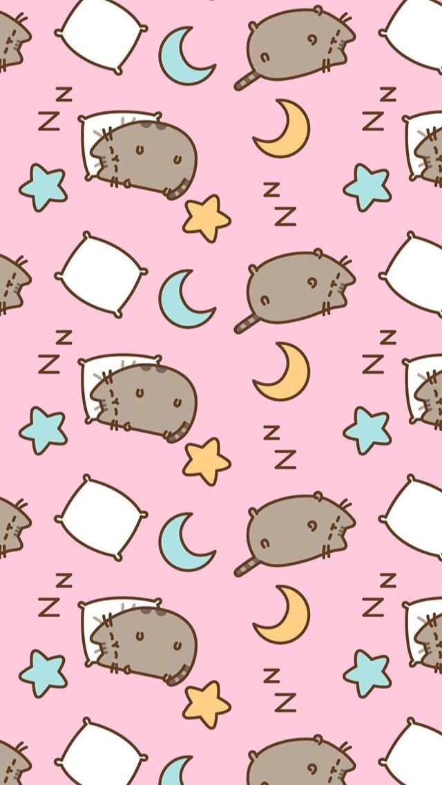 Pusheen BackgroundWallpaper pusheen pusheencat sleep night 640x1136