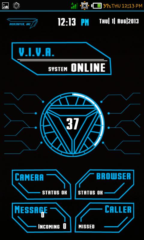 J A R V I S Launcher Hologram Futuristic Theme