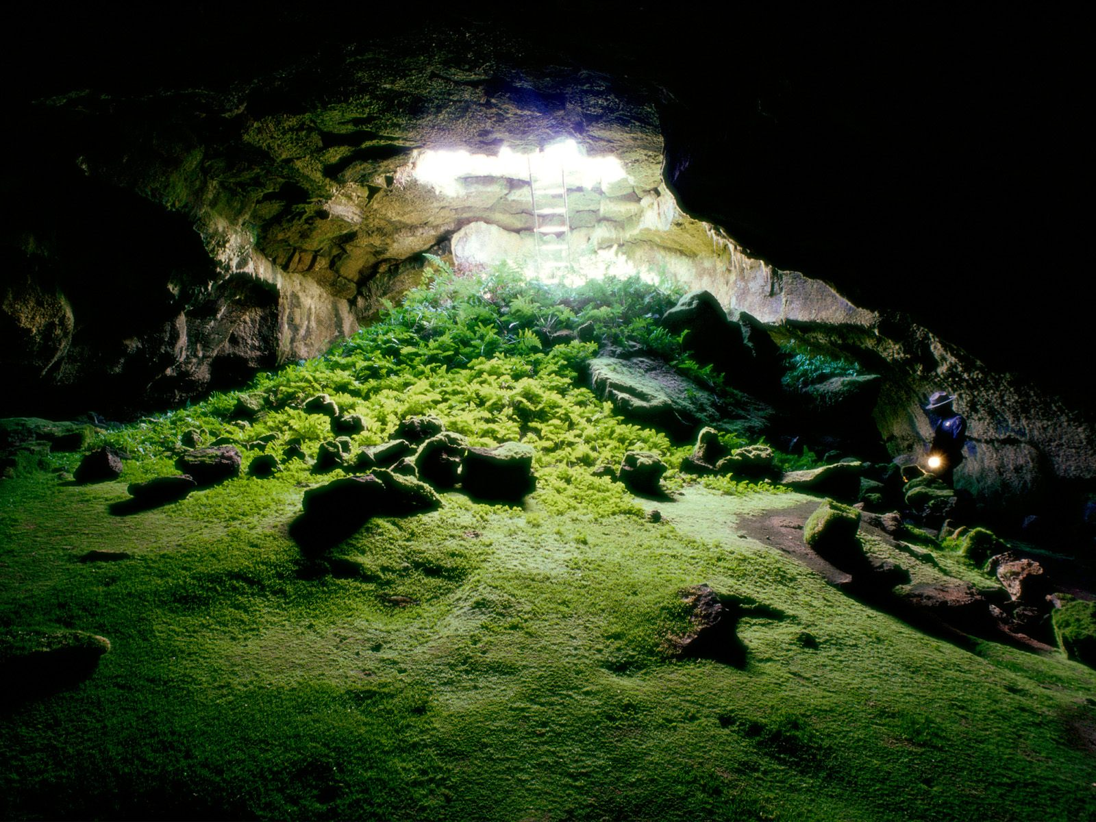 Lava Tube Cave Lava Beds National Monument Wallpapers HD Wallpapers 1600x1200