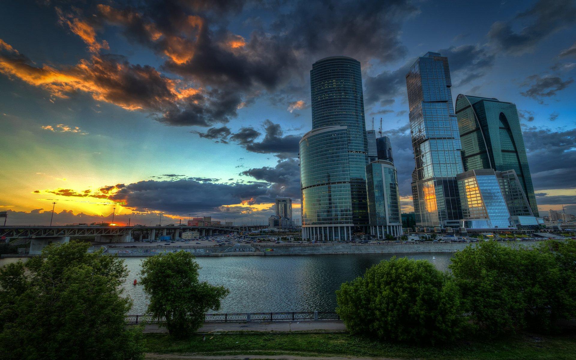 страны город архитектура ночь Москва сити Россия  № 2582919 загрузить