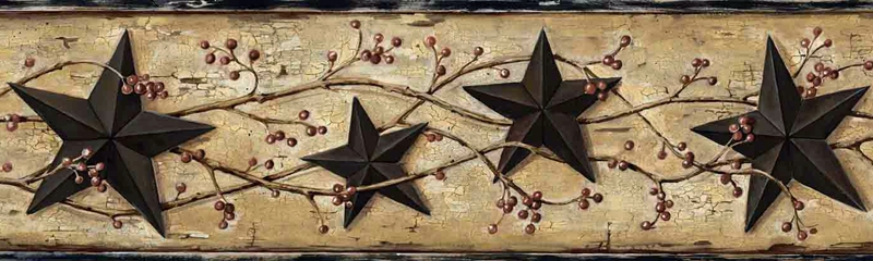 Black Barn Star Wallpaper Border FFR65362B berry garland border 800x240