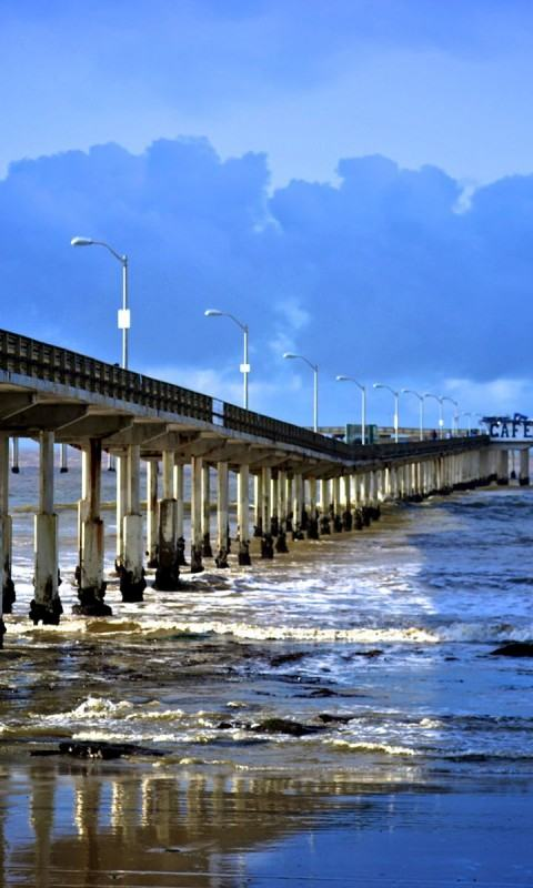 Download Wallpapers Backgrounds   Ocean Beach Pier San Diego 480x800
