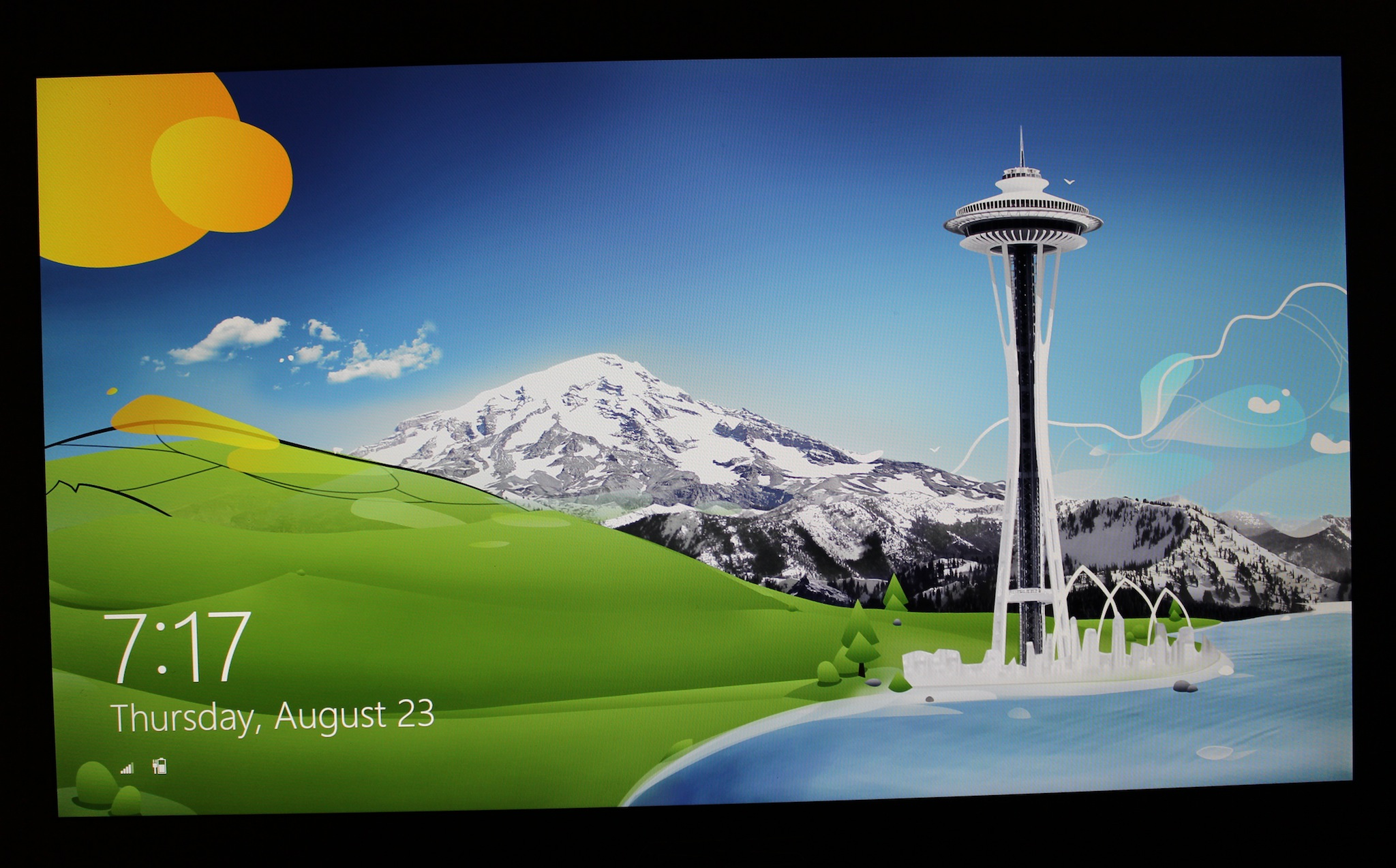 on using one of the colorful login screen wallpapers from Windows 8 2048x1274