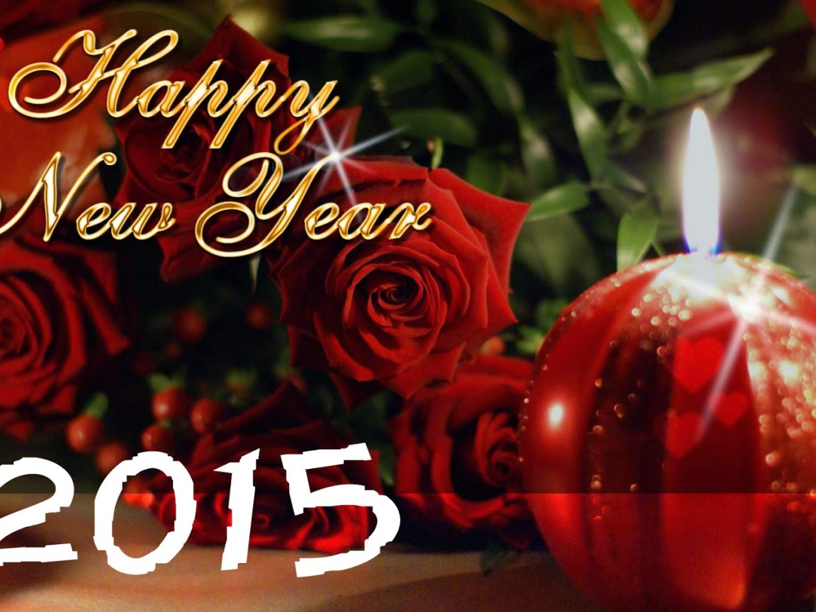 Happy new year 2015 red rose best flower Desktop Best Wallpapers 1152x864