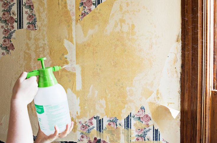 wallpaper removal Home Projects Pinterest 736x484