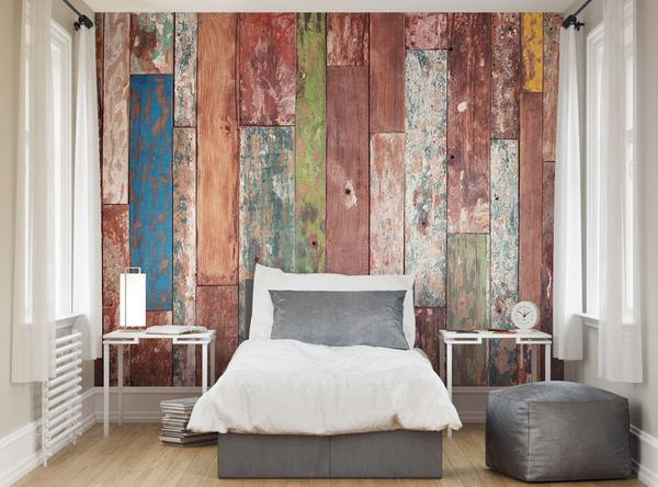 ohpopsi Abstract Grunge Weathered Wood Wall Mural 600x444
