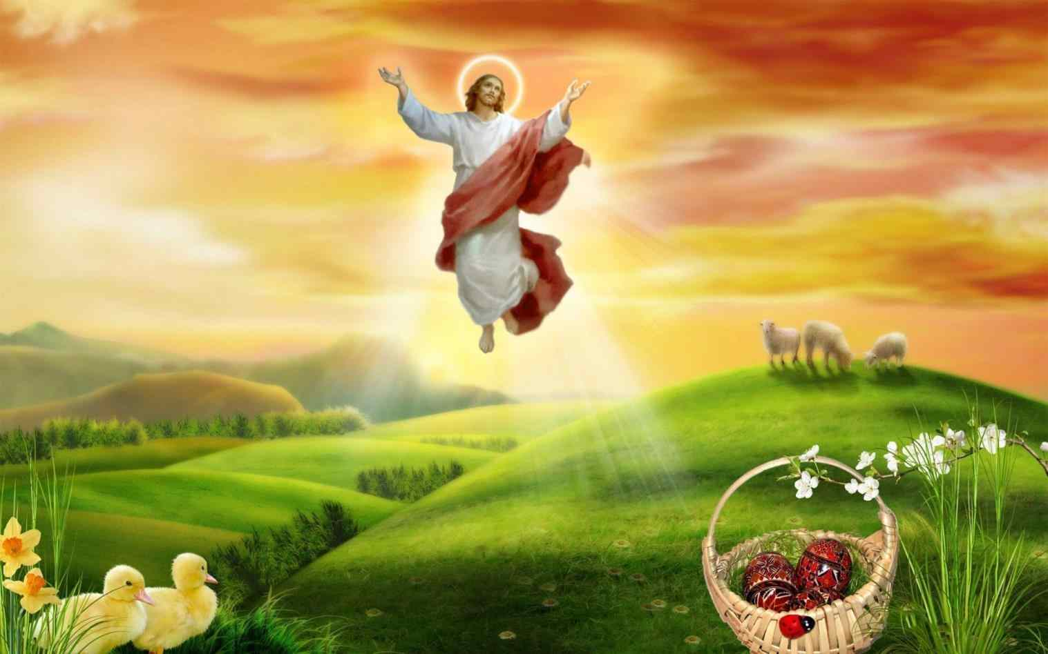 Happy Religious Easter Wallpaper Images Pictures 1517x948