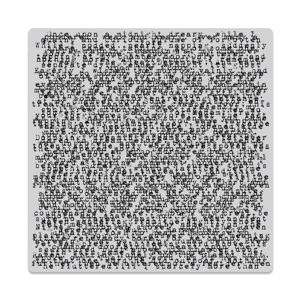 Nevermore Print Bold Prints Hero Arts Cling Stamps   Ellen Hutson LLC 1024x1024