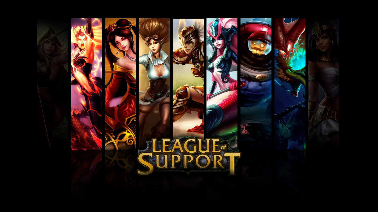 Free Download League Of Legends Support Wallpaper League Of