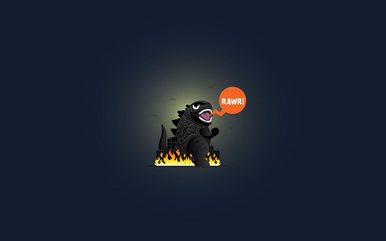 cheechingycom [Wallpaper] Hello Im Godzilla rawr 1600x1000