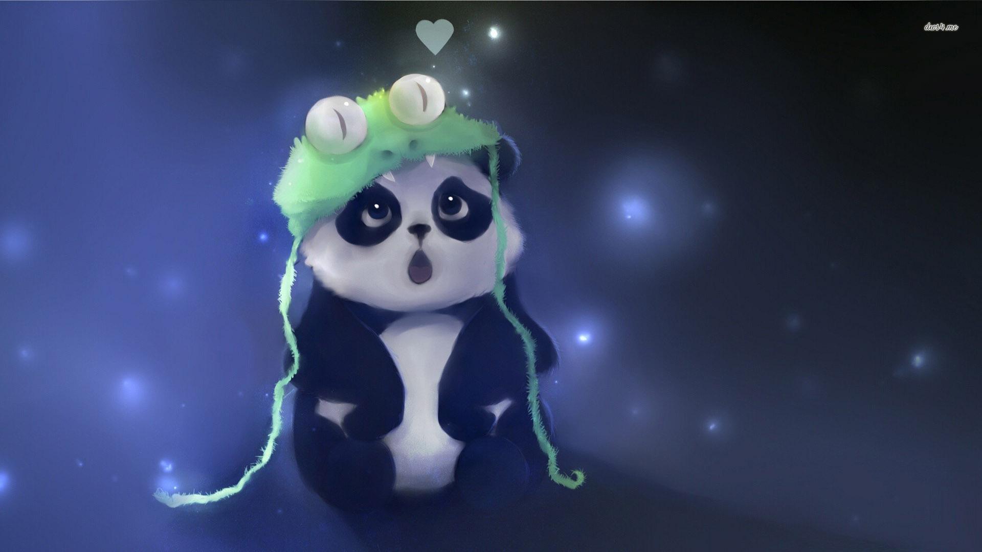 Cute Panda fond ecran hd 1920x1080
