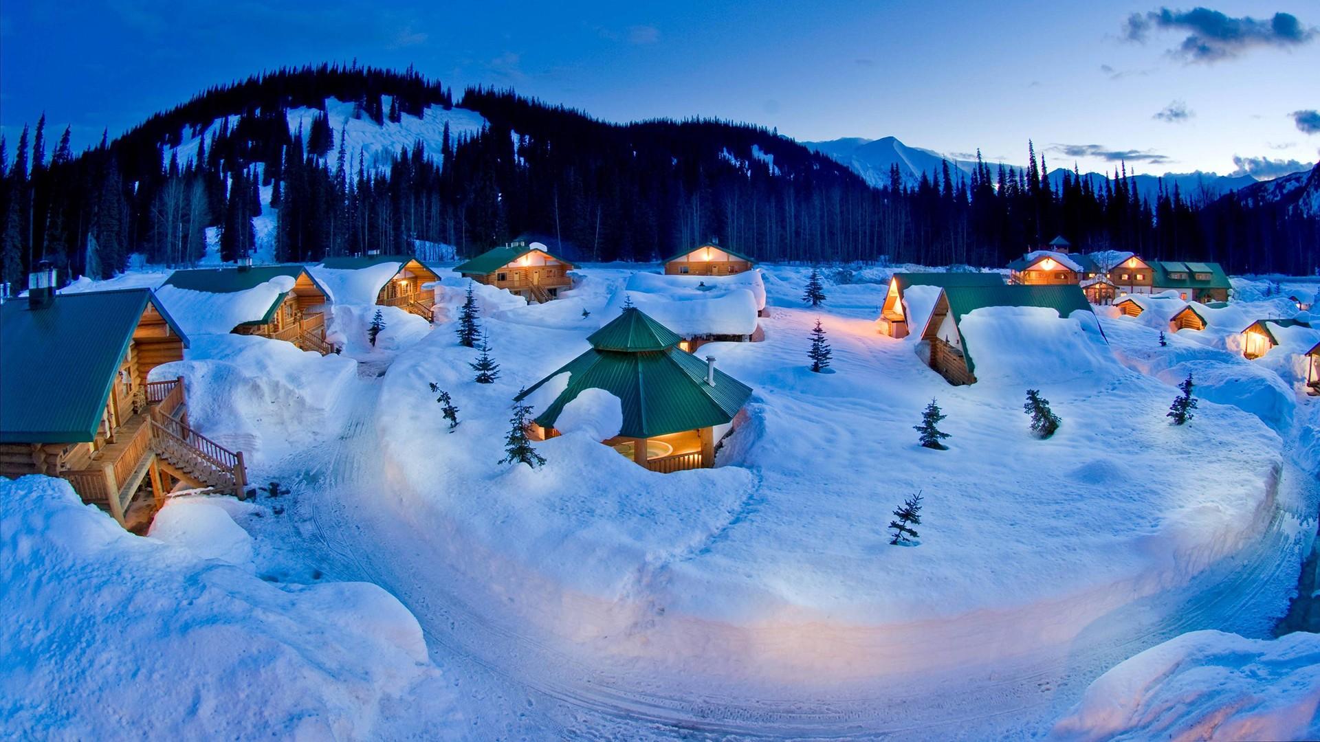 Snow Winter Cabin House Trees wallpaper 1920x1080 136944 1920x1080