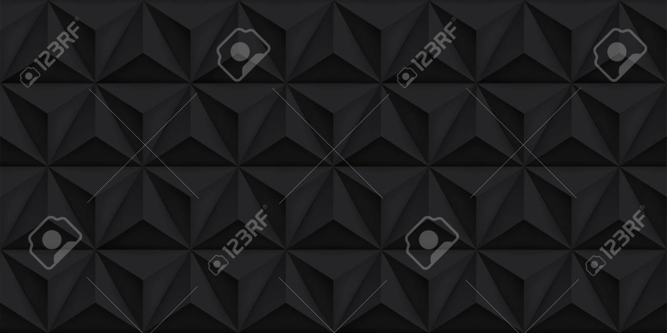 Vector Triangles Retro Black Background Mesh Gradient Geometric 1300x650