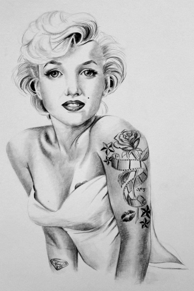 Tattooed Marilyn Monroe Wallpaper - WallpaperSafari