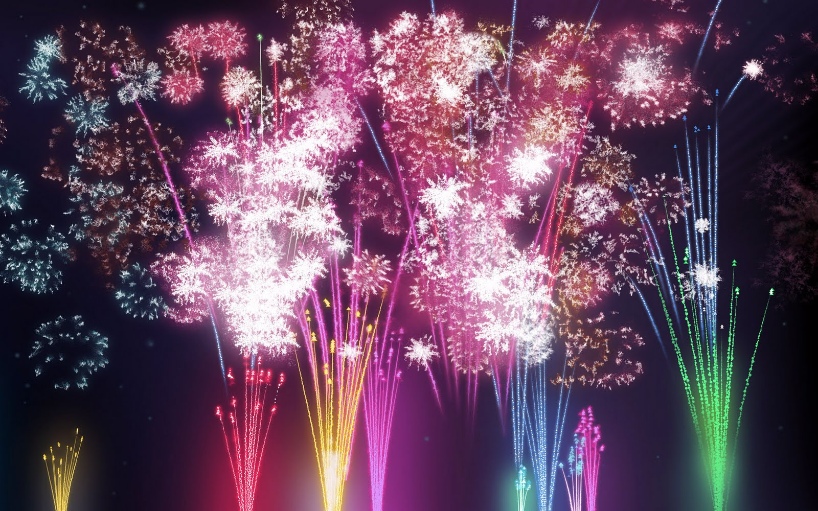 exploding fireworks animated clipart